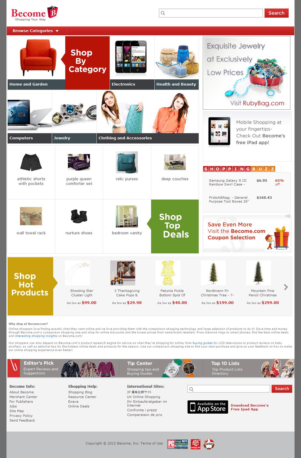 Online Shopping - Price Comparison, Product Reviews and Hot Deals on Become.com