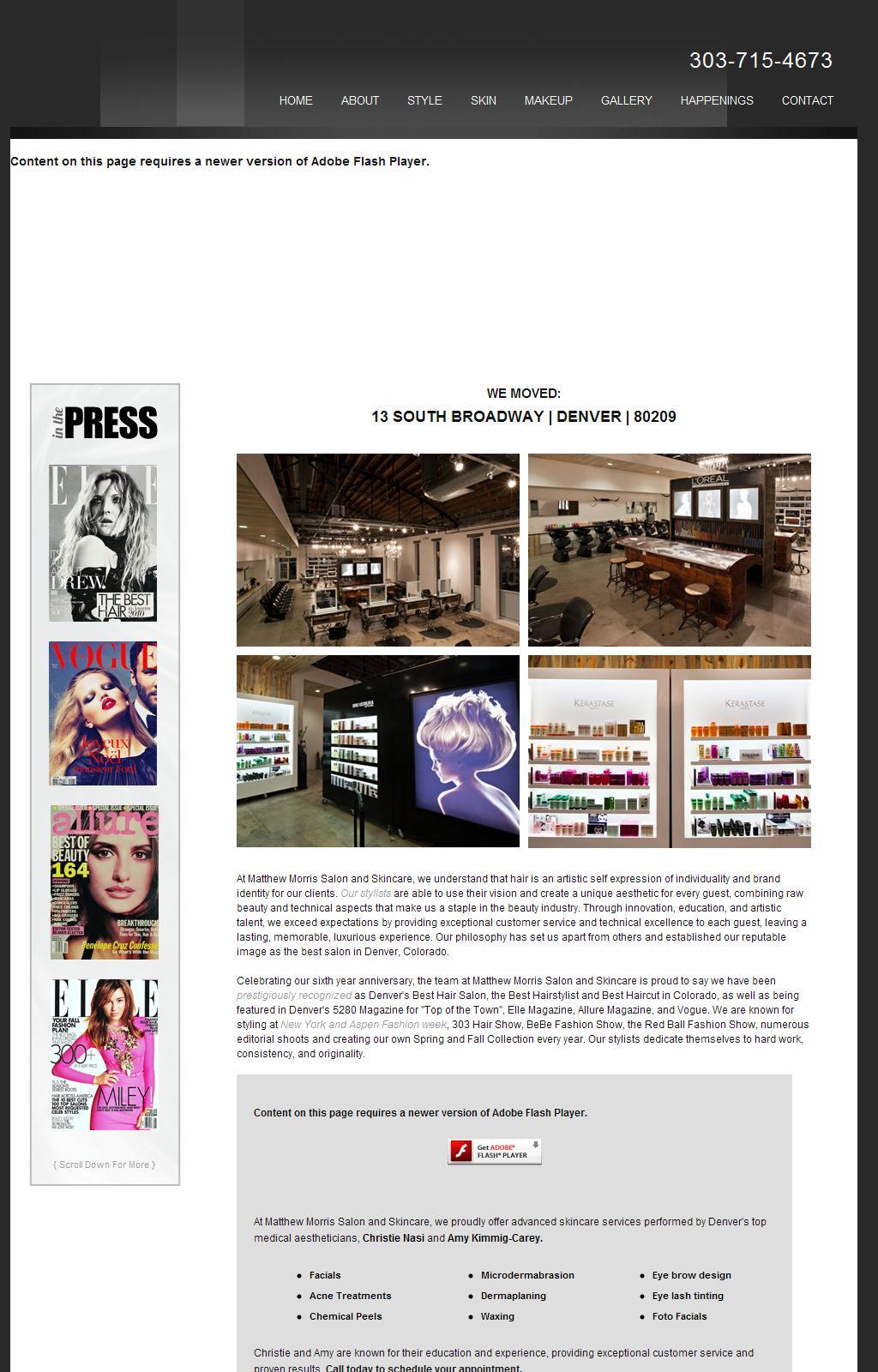 Matthew Morris Salon and Skincare : Best Salon 5280  Denver, Colorado