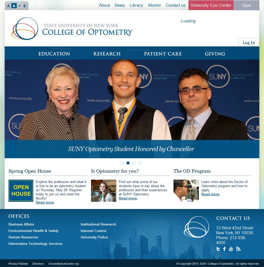 suny optometry essay Learn the suny college of optometry student to faculty ratio and faculty composition to get a feel for the academic climate, class sizes, and access to professors.