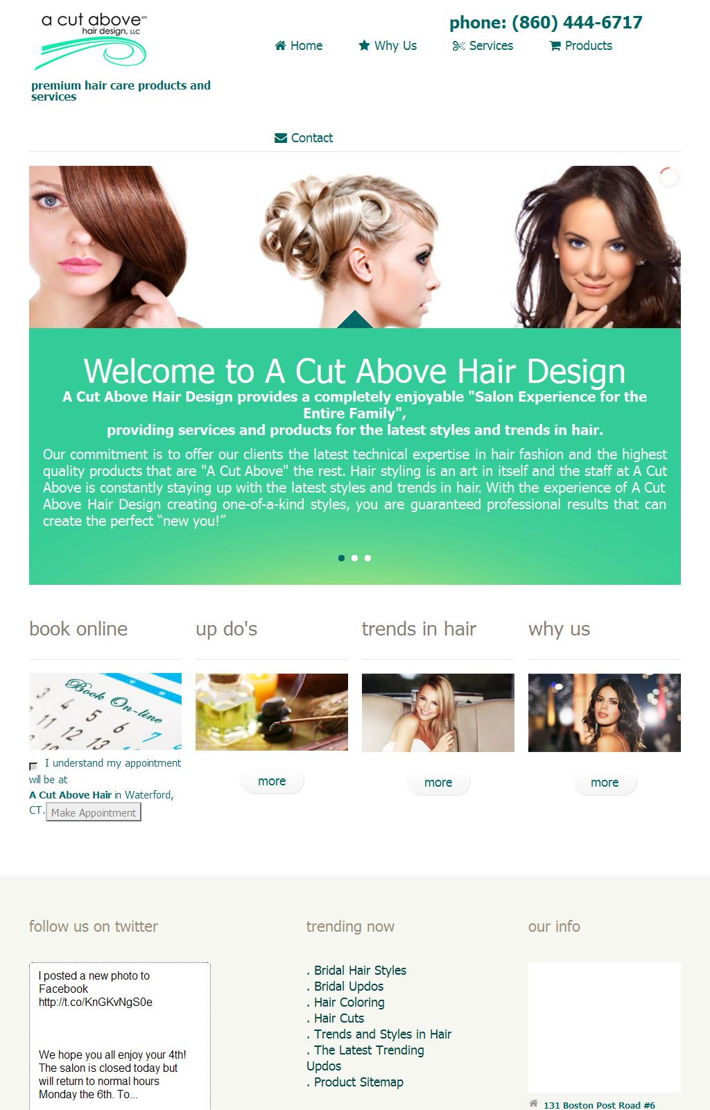 A Cut Above Hair Design | Premium Hair Care Products and Services