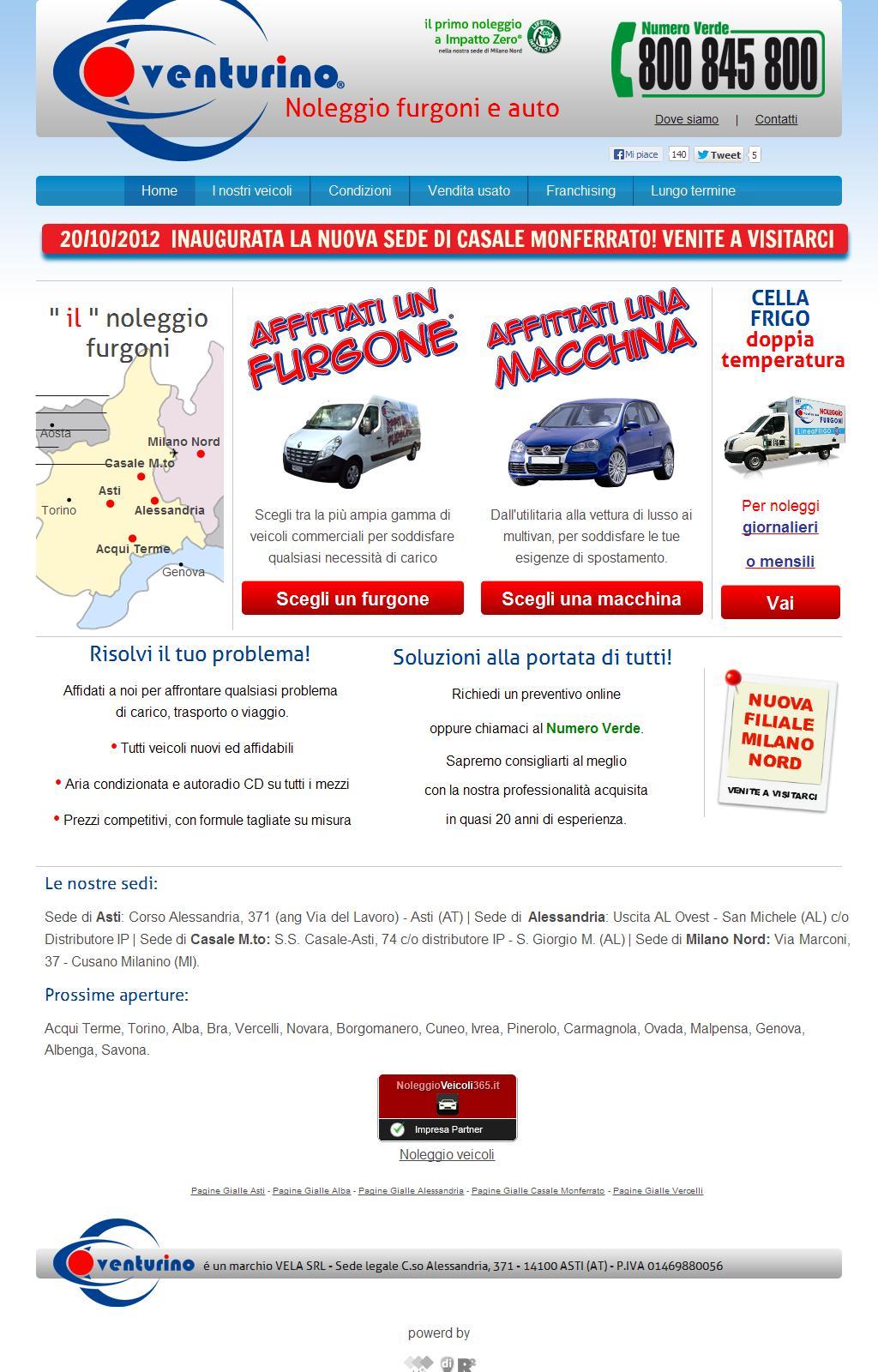 Noleggio furgoni e macchine Venturino - Affittati un furgone