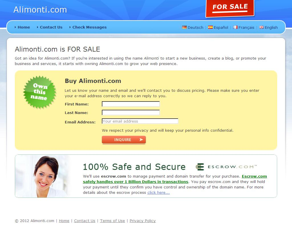 Alimonti.com - 	FOR SALE