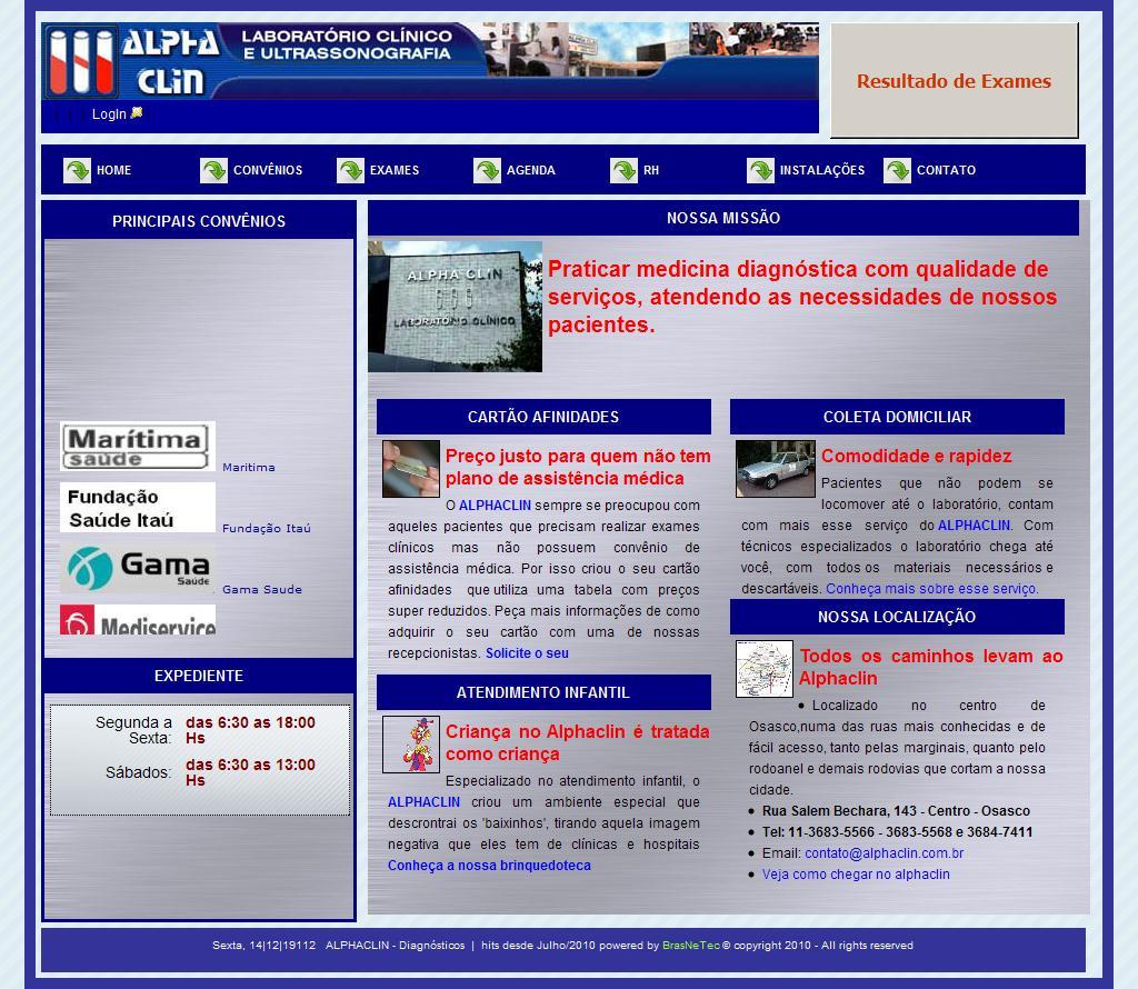 Alphaclin - Laboratório Clínico e Diagnósticos