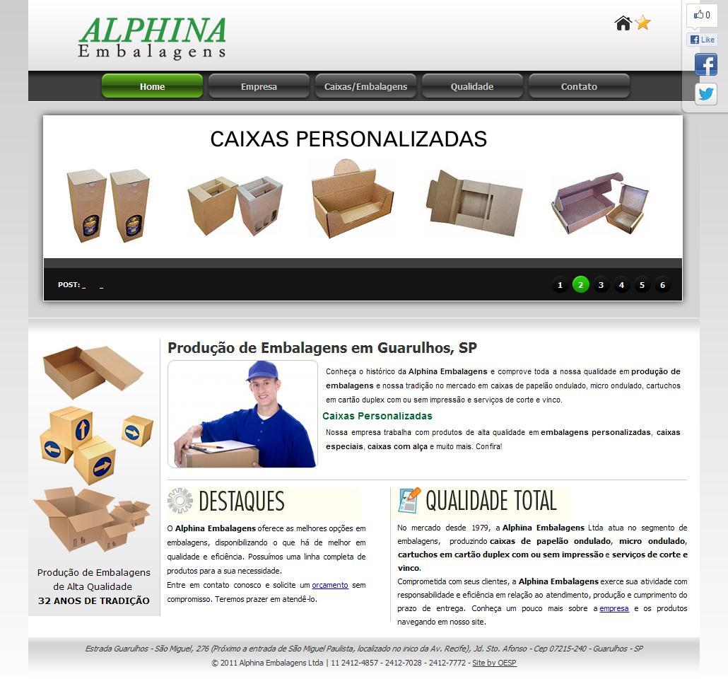 Produção de Embalagens em Guarulhos, SP | Embalagens Alphina
