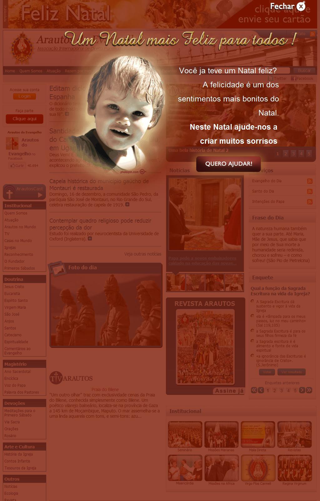 Arautos do Evangelho - Associação Internacional de Direito Pontifício - Home