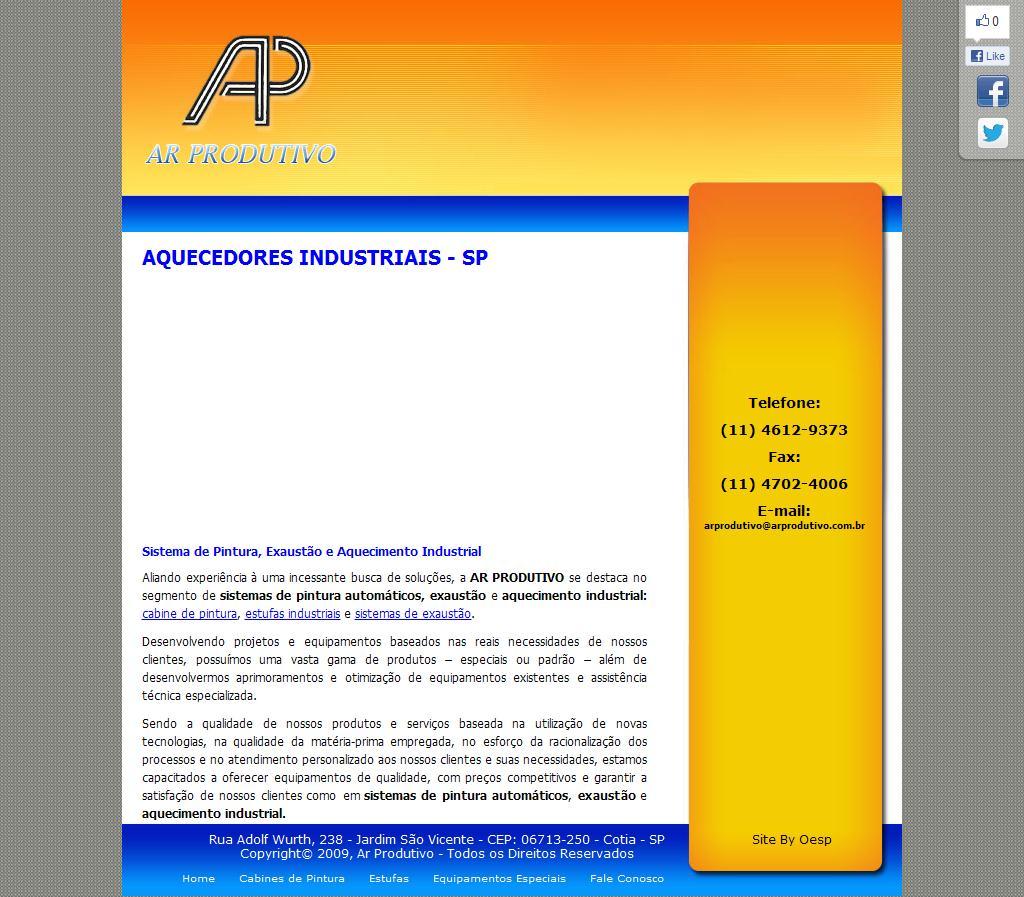 Aquecedores Industriais - SP | AR PRODUTIVO