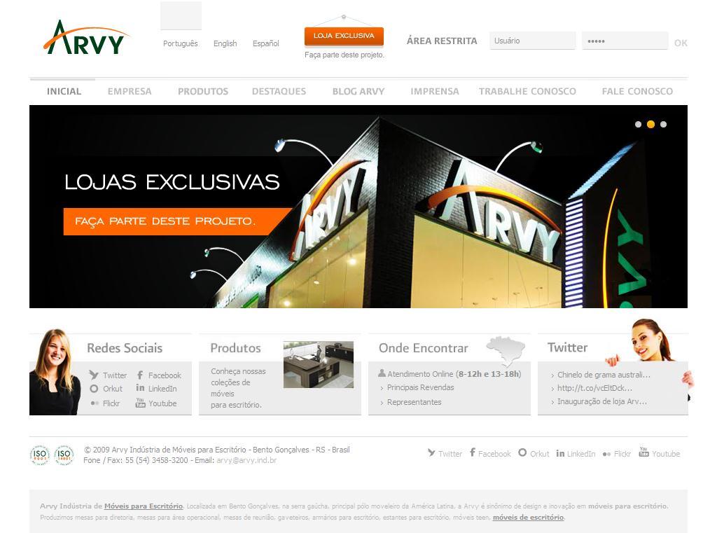 Móveis para Escritório - Arvy Indústria de Móveis para Escritório.