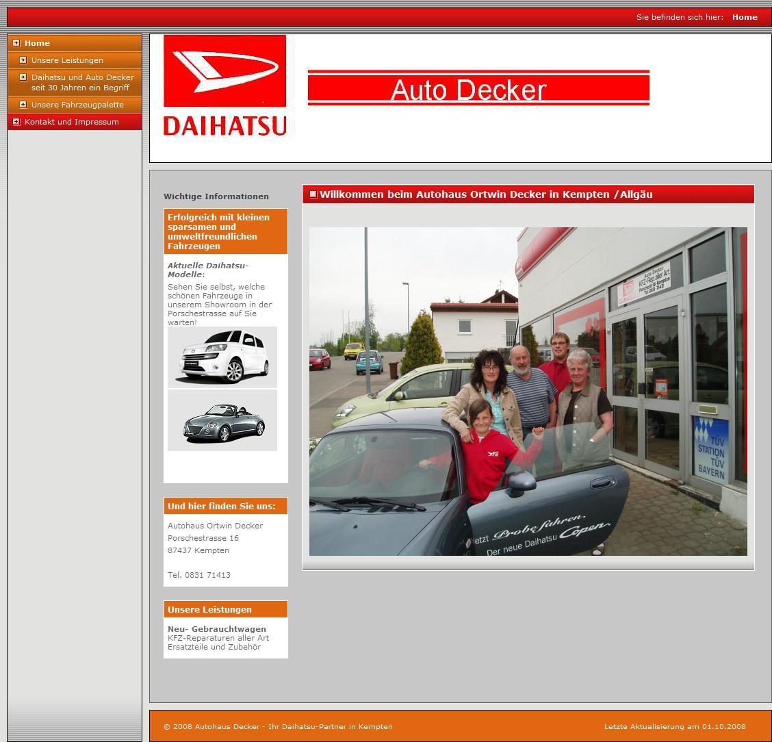 Autohaus Decker - Ihr Daihatsu-Partner in Kempten - Home
