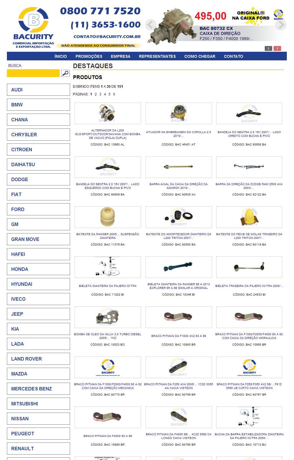 Bacurity Comercial Importação e Exportação Ltda - (11) 3653-1600