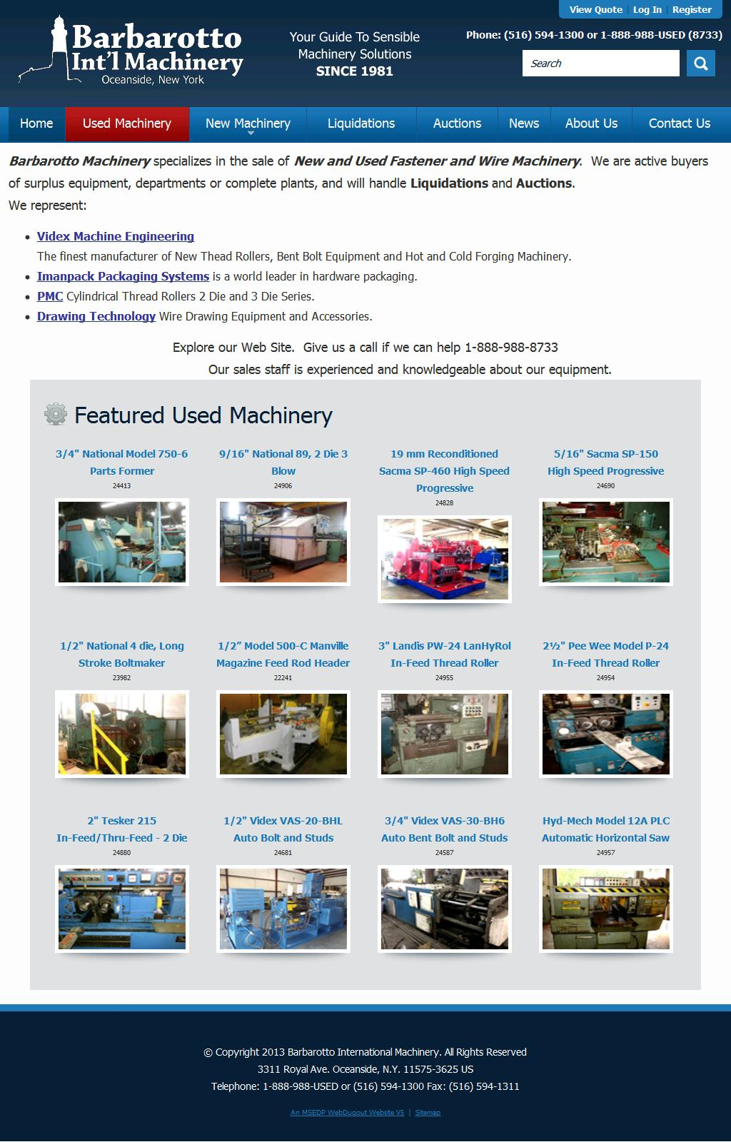 Barbarotto Machinery, Fastener, Cold Forming, Wire Machinery