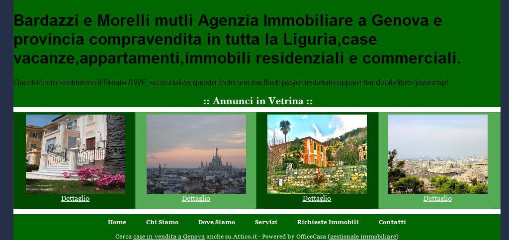 :: Bardazzi e Morelli :: MutliAgenzia Immobiliare a Genova e Liguria, vendita affitto appartamenti e case vacanze.