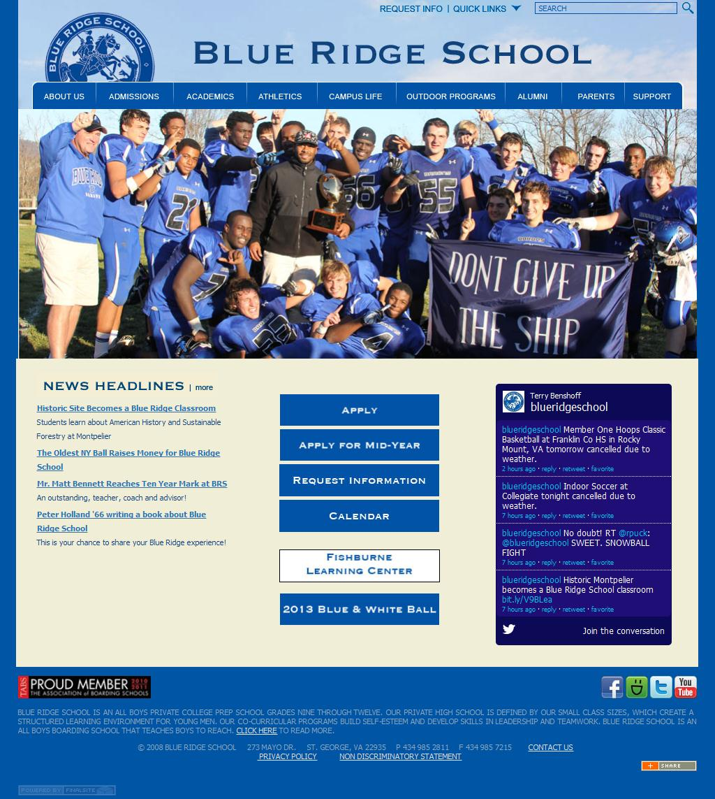 Blue Ridge School  |  Private College Prep School Charlottesville, VA  |  Boys Private High School  |  Boys Boarding School Virginia