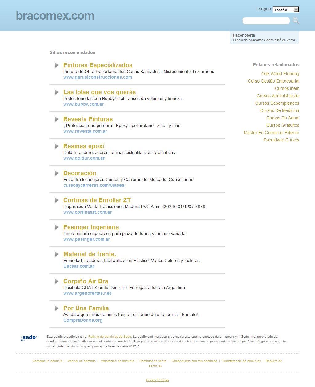 bracomex.com - La mejor información y recursos sobre bracomex. ¡Esta pagina está a la venta!
