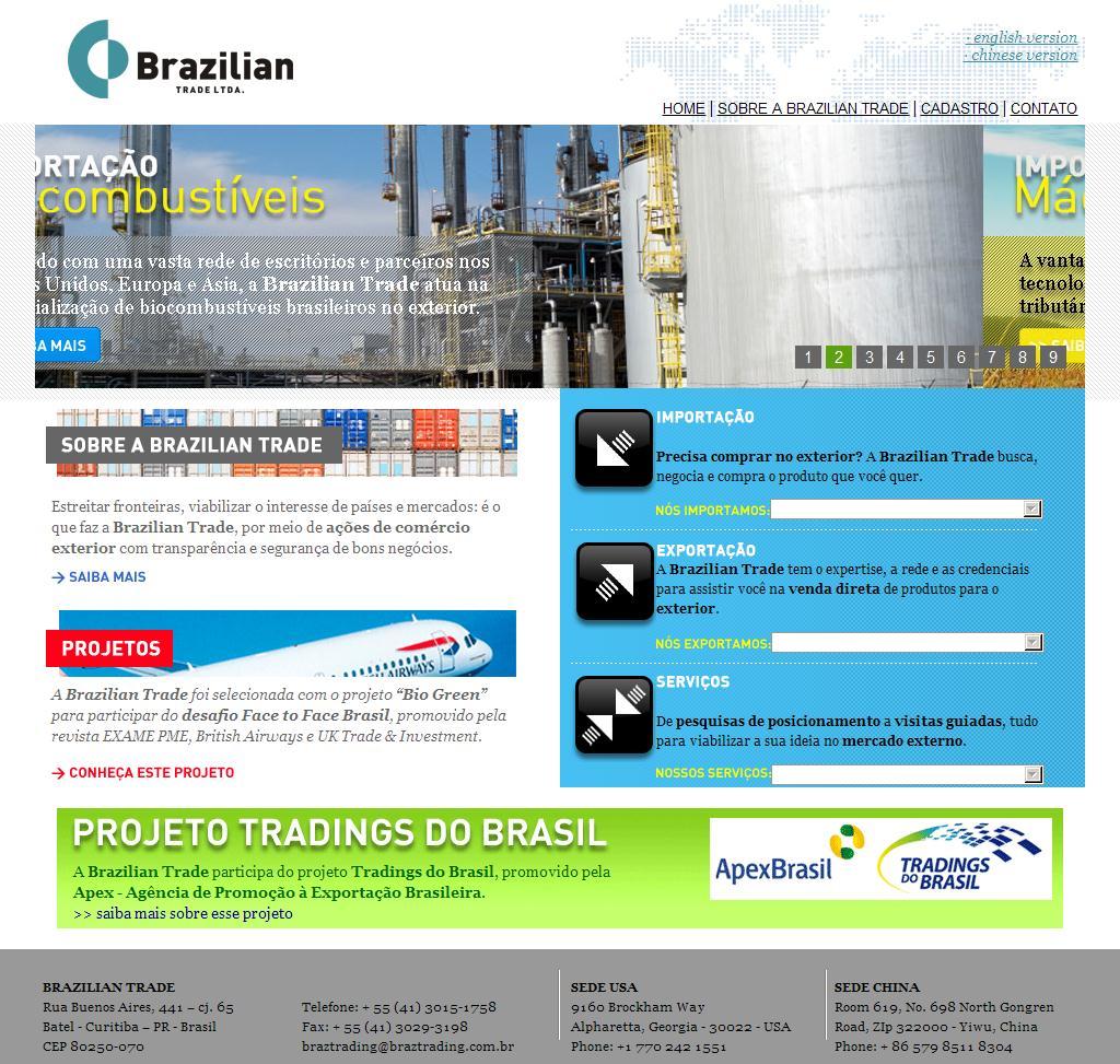 Brazilian Trade | Curitiba- PR, Brasil | Importação, Exportação, Comércio Exterior, Global Trading Services, Global sourcing, procurement, buying agent