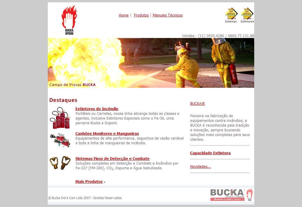 BUCKA SPIERO - Equipamentos de Combate a Incendios