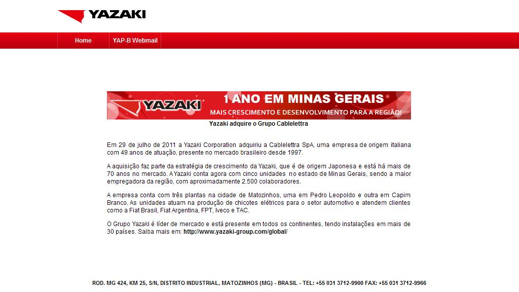 ..:: YAZAKI AUTOMOTIVE PRODUCTS DO BRASIL ::..