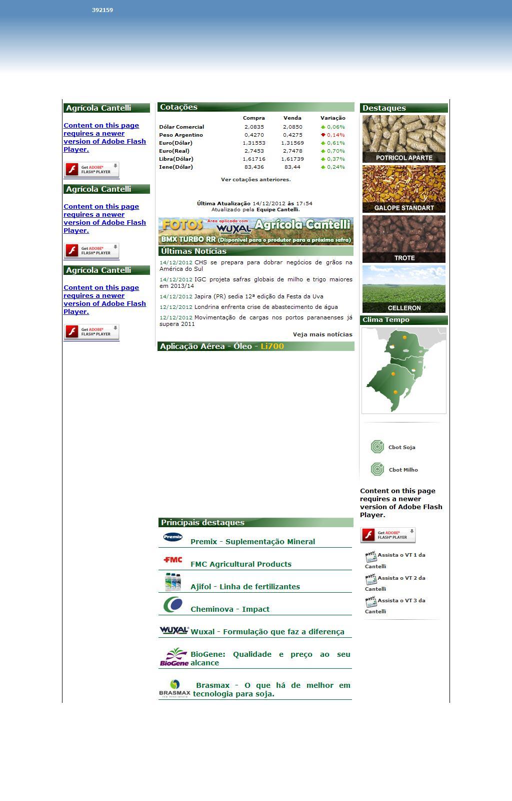 Agrícola Cantelli - A verdadeira parceria com o agricultor!