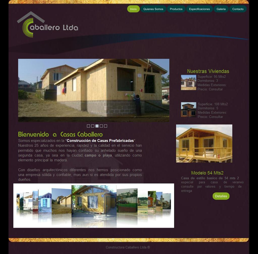 Sitios Web De Casas Prefabricadas Caballero Ltda Trade Nosis