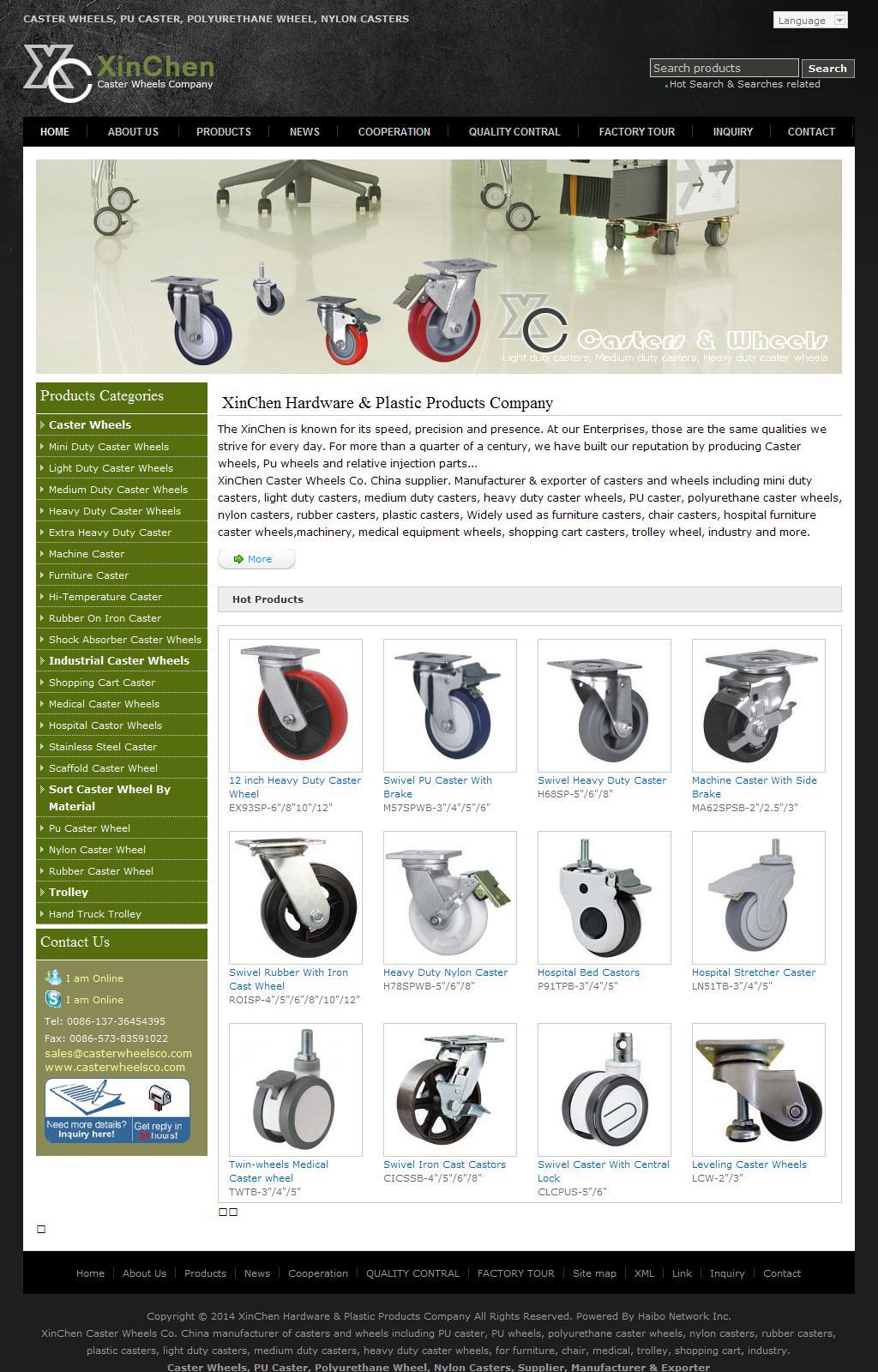 Caster Wheels, PU Caster, Polyurethane Wheel, Nylon Casters, Manufacturer, China | XinChen Caster Wheels
