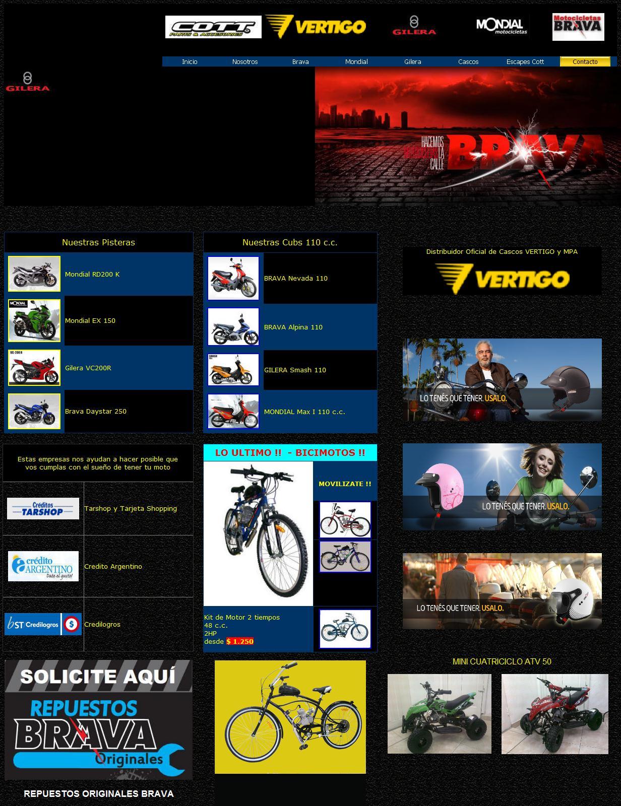 Cordoba Moto SRL - Motocicletas Brava, Gilera, Mondial