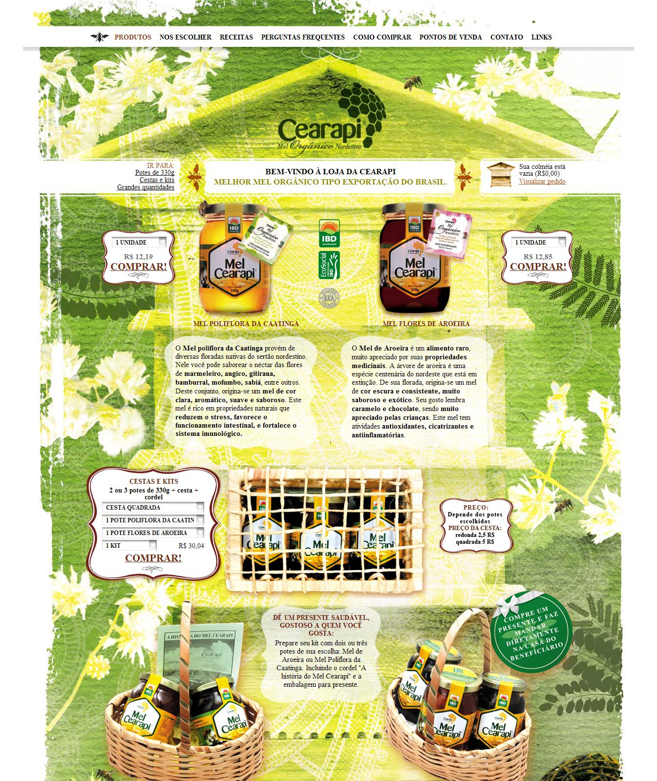 Cearapi Apicultura | Mel e Produtos Orgânicos - Melhor mel orgânico tipo exportação do Brasil.