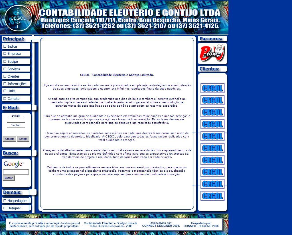 ::: Contabilidade Eleutério e Gontijo Limitada :::