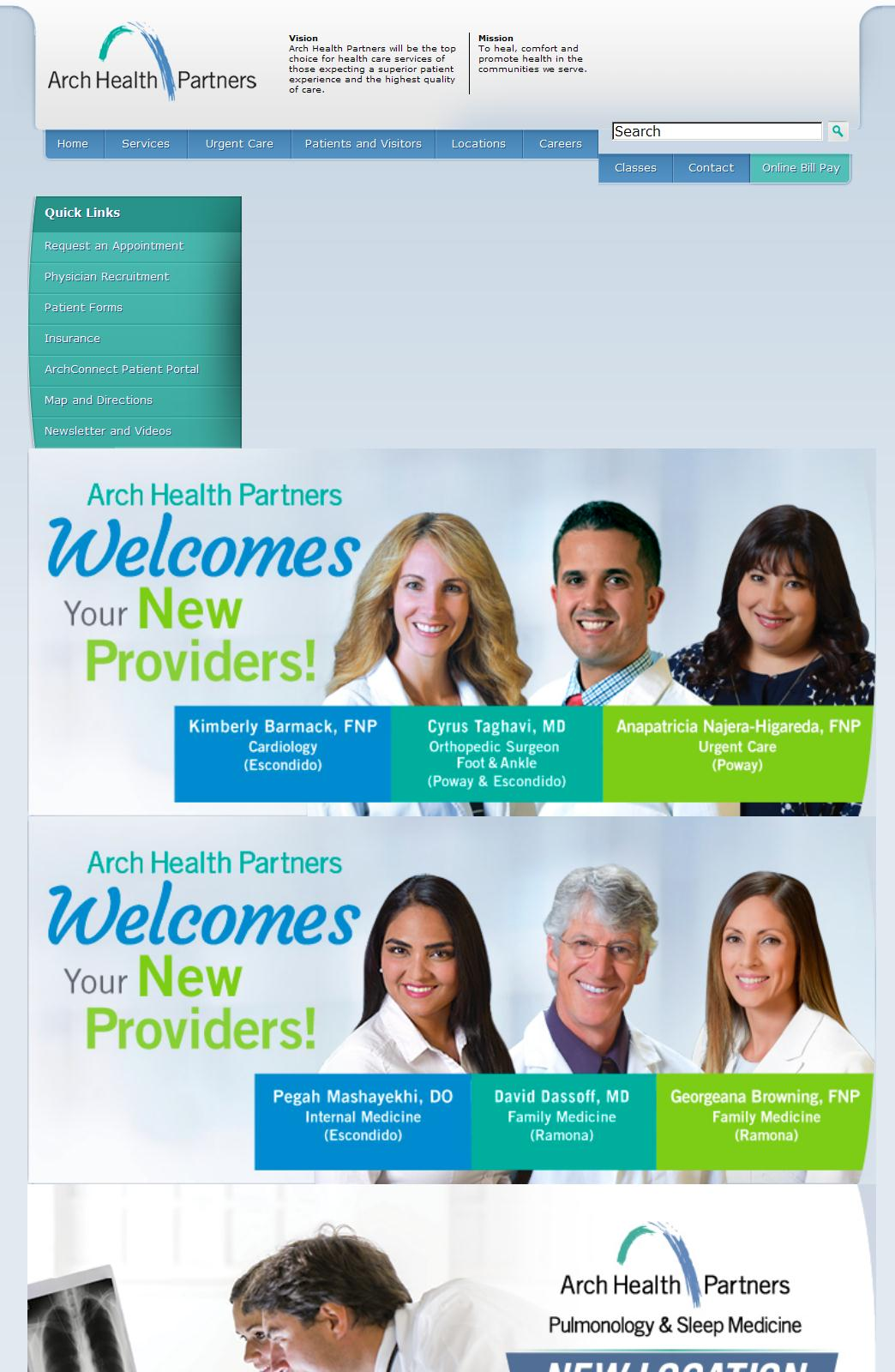 San Diego Doctors   Arch Health Partners   Where Healing Begins