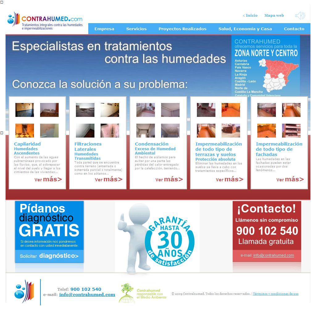 Sitios web de CONTRAHUMEDAD S L  | Trade Nosis