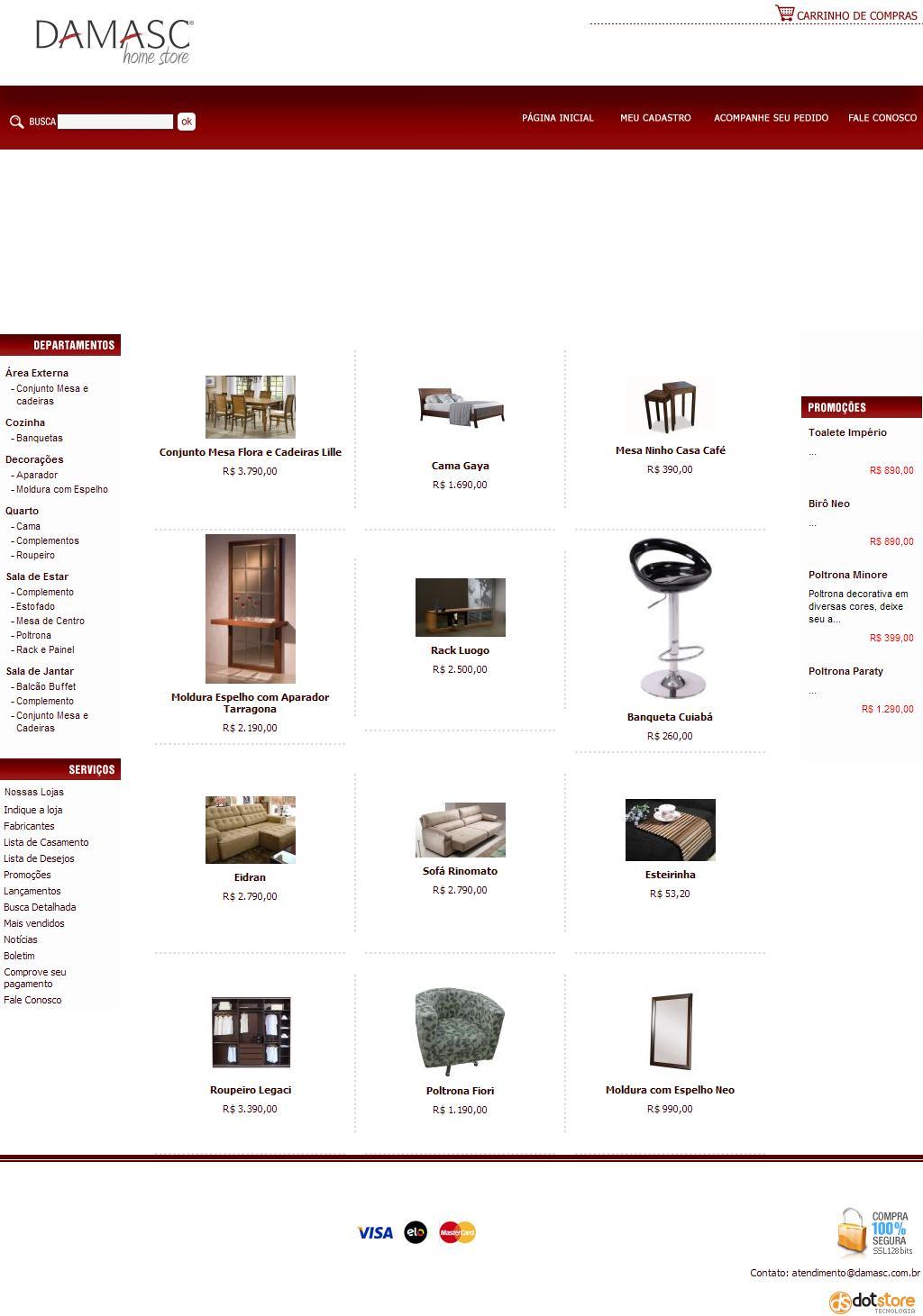 Damasc Home Store - Loja de Móveis e Decorações em Campo Grande, Londrina e Maringá