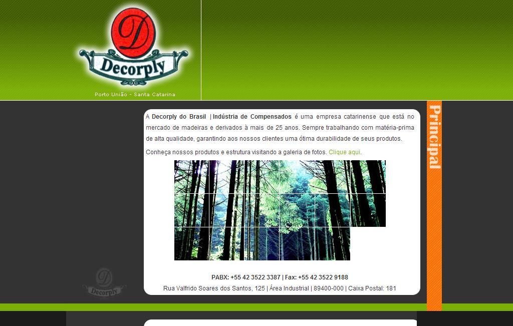 Decorply do Brasil | +55 42 3522 3387 | Indústria de Compensados