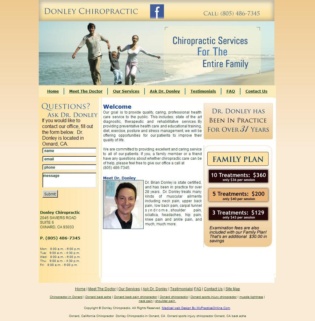Donley Chiropractic - Chiropractor in Oxnard, California - Welcome