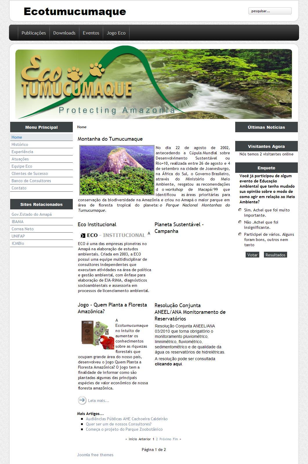 Ecotumucumaque.com.br - Sejam bem vindos.
