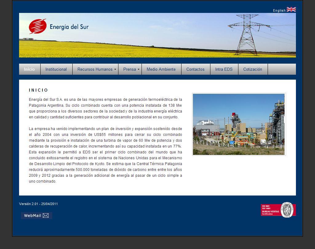 Sitios web de energia del sur sa trade nosis for Sitio web ministerio del interior