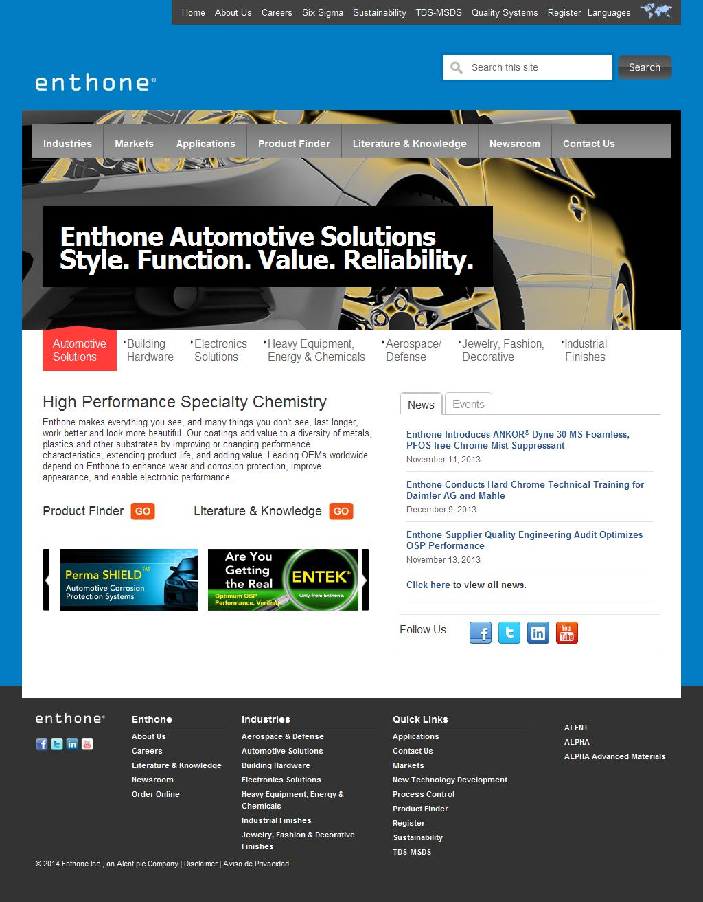 Enthone  -    High Performance Specialty Chemistry