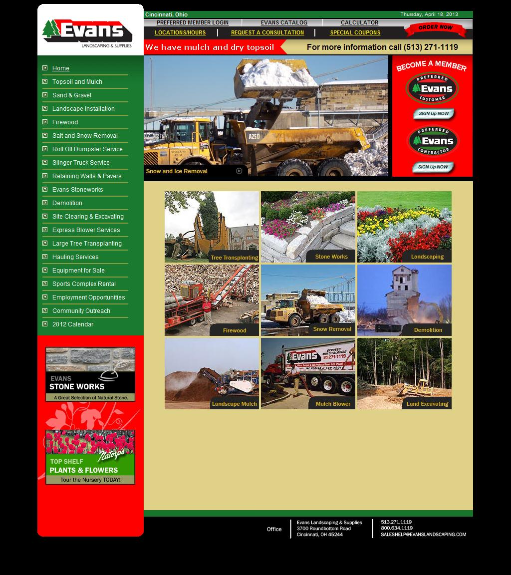 Professional Landscaping Services, Snow Removal, Firewood - Evans Landscaping, Cincinnati OH