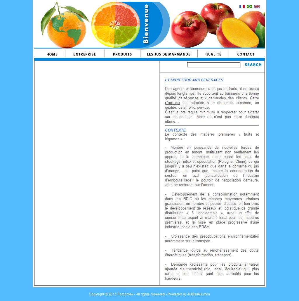 FORCOMEX - FOODS AND BEVERAGES