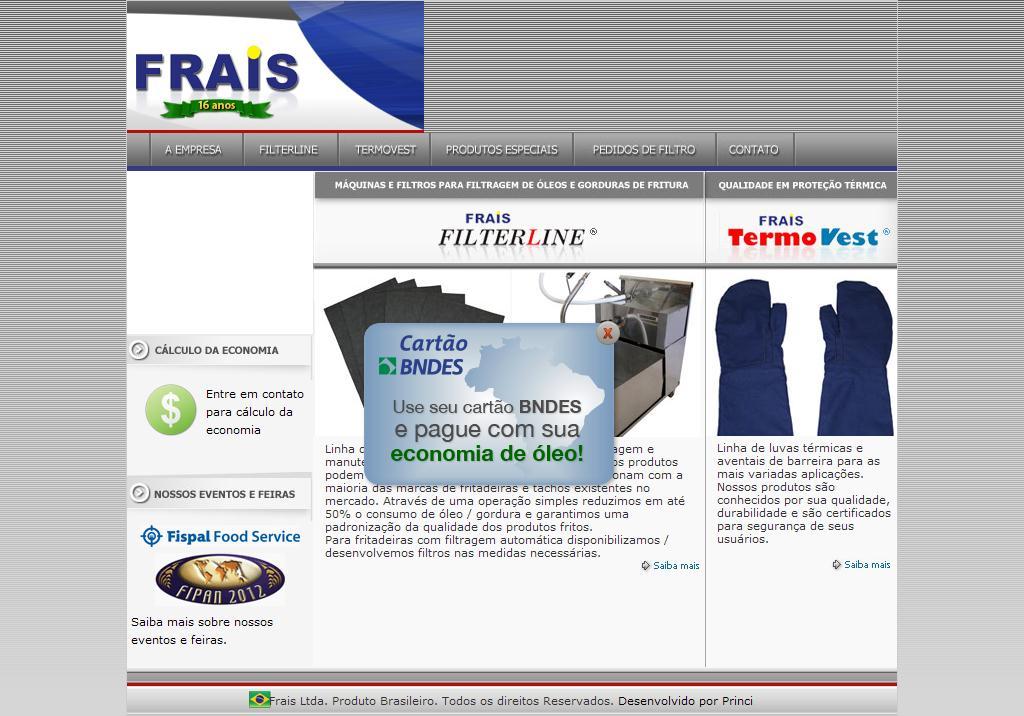 FRAIS Ltda.   Filtragem, filtradora e filtro para óleo e gordura de fritura, filtercorp.
