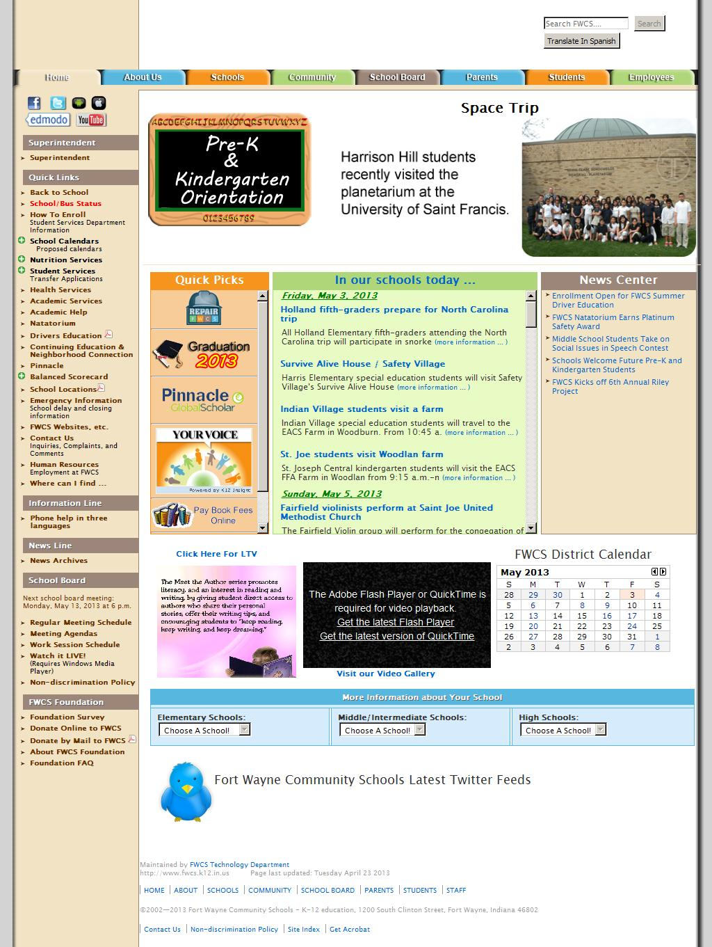 Fort Wayne Community Schools - Home Page