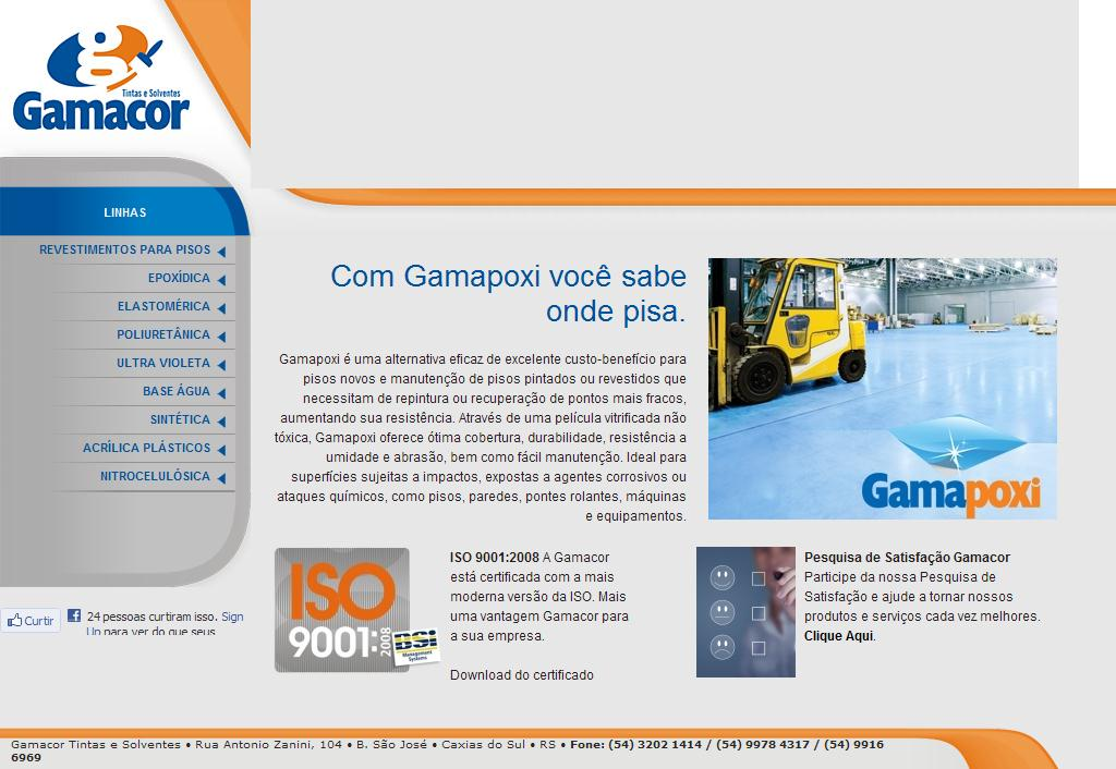 Gamacor Tintas e Solventes - Caxias do Sul/RS