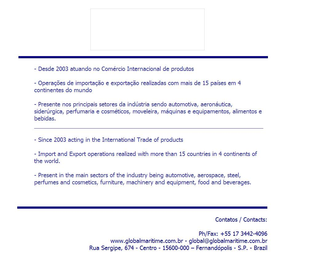 GLOBAL MARITIME - IMPORT & EXPORT COMPANY