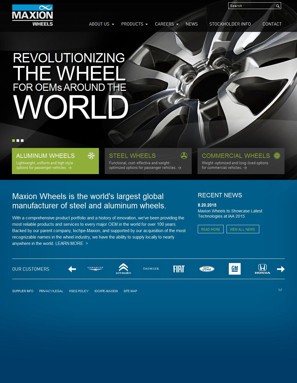 The world's largest global manufacturer of steel and aluminum wheels