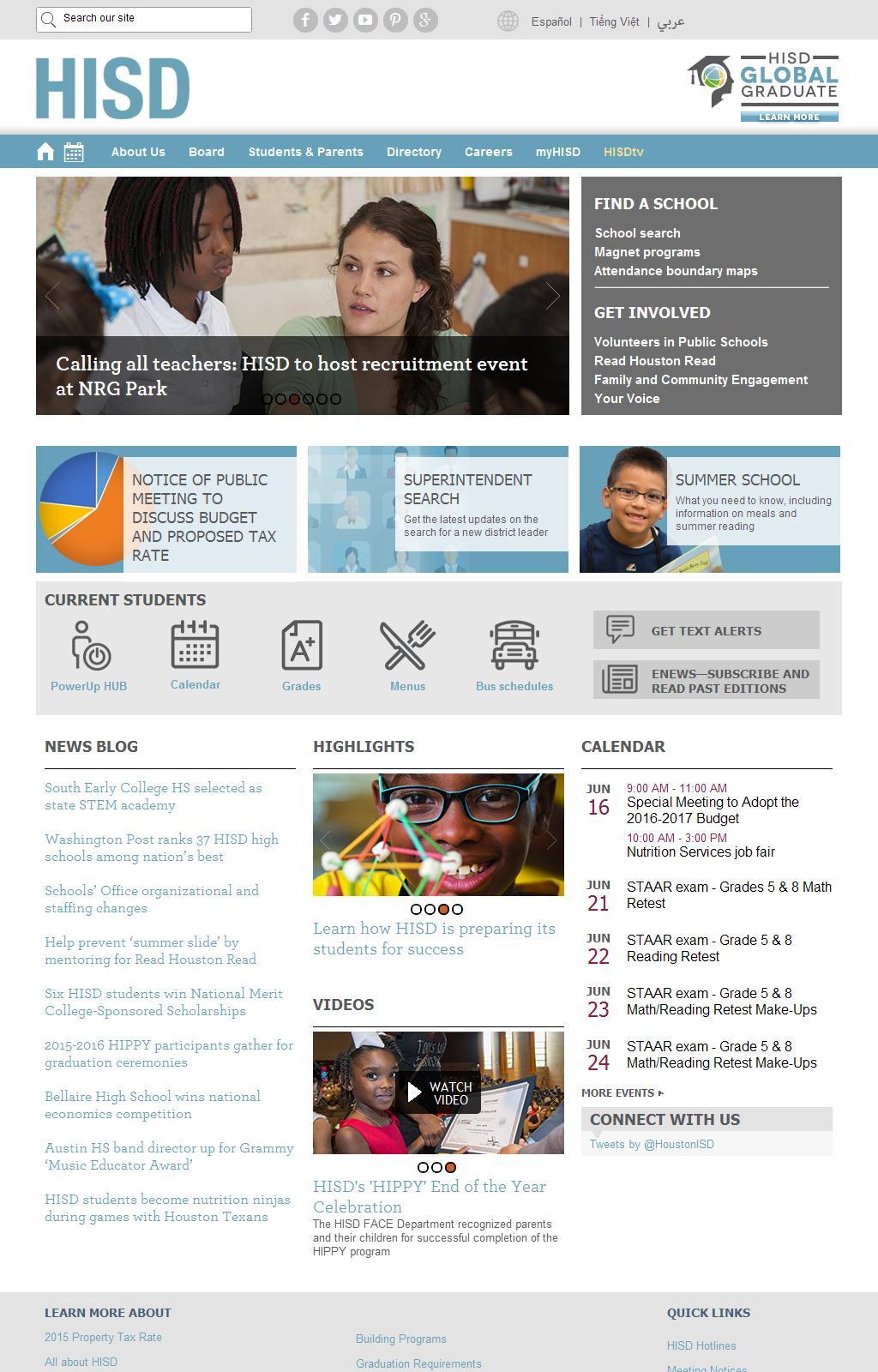 Houston Independent School District / Houston ISD Homepage