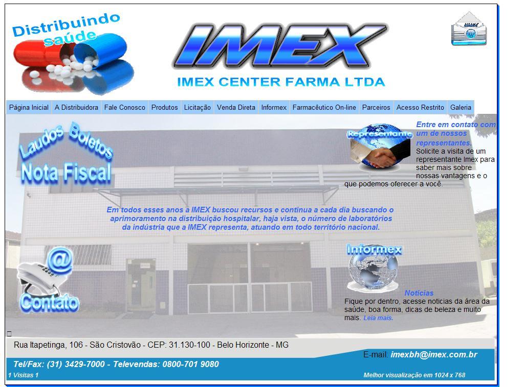 ::.. Imex Center Farma - Excelência Em Distribuição De Medicamento E Correlatos ..::