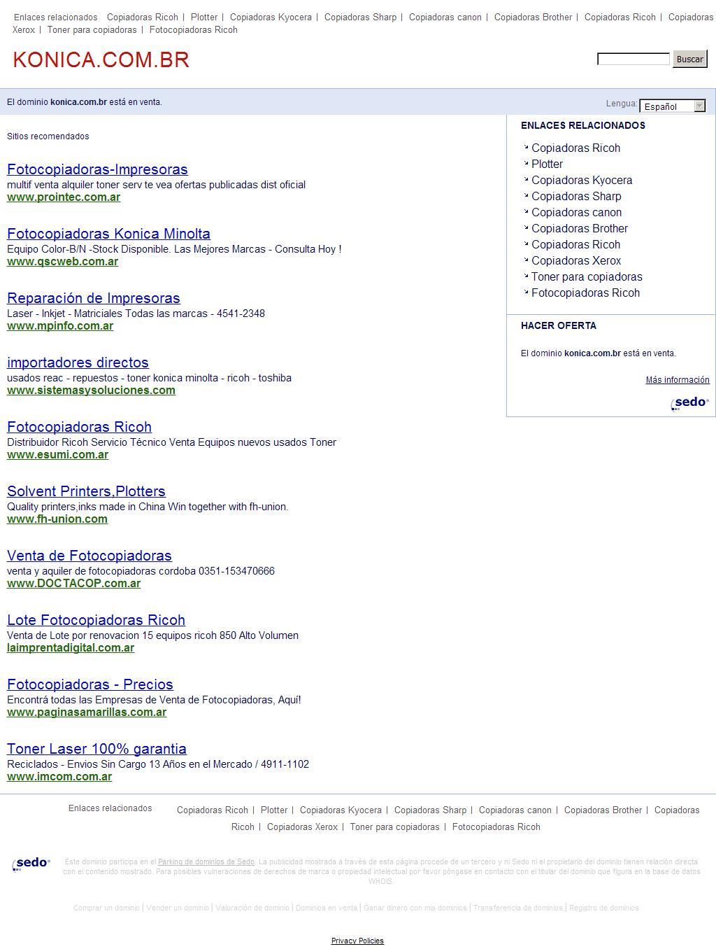 konica.com.br - La mejor información y recursos sobre konica minolta impressoras. ¡Esta pagina está a la venta!