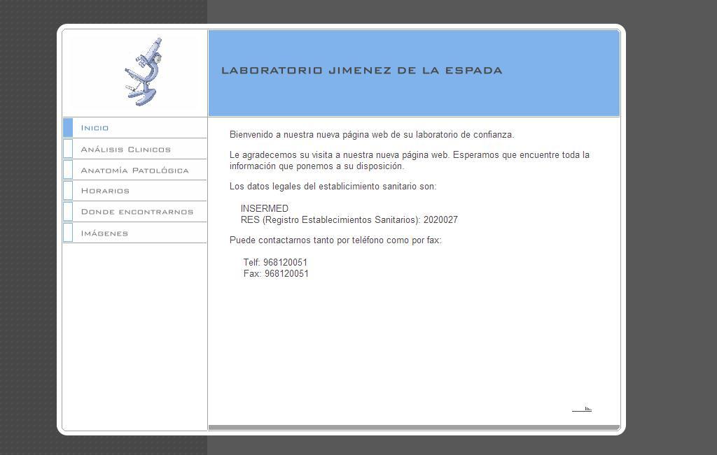 Sitios web de LABORATORIO DE ANALISIS CLINICOS Y ANATOMIA PATOLOGICA ...
