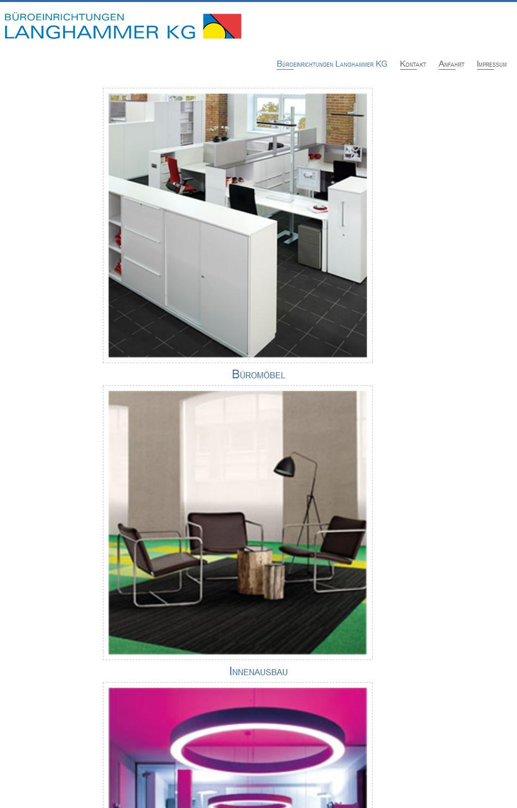Websites of Büro & Objekteinrichtungen Langhammer KG | Trade Nosis