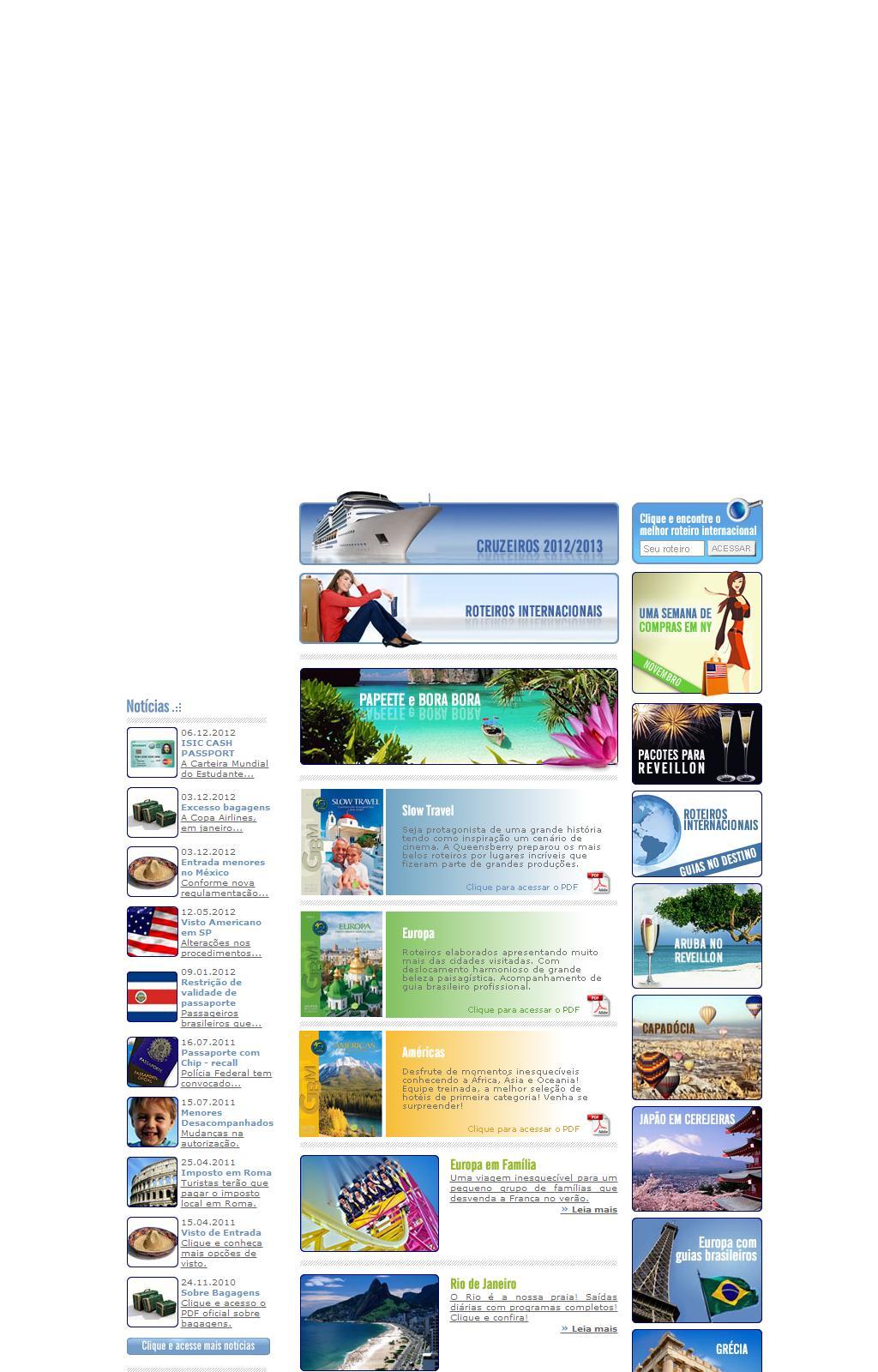 Lear Travel - Viajar é preciso, deixe por nossa conta! - Viagens nacionais e internacionais, pacotes turísticos, feriados, férias, cruzeiros, ski, spa...