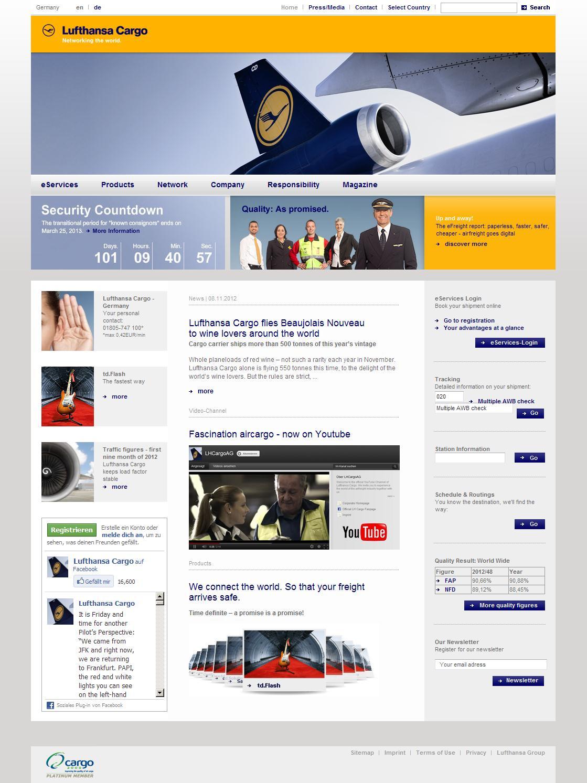 Lufthansa Cargo: Home