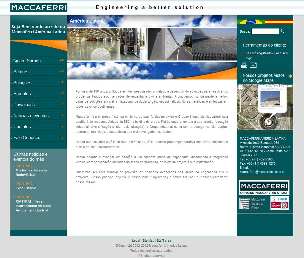 Home Page - Brazil - MACCAFERRI · Engineering a better solution