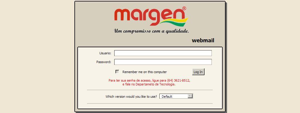 Webmail Frigorifico Margen Ltda